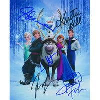 Film still signed by the cast of Disney's Frozen.