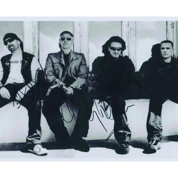 U2 (Bono, The Edge & Adam Clayton) Signed Photograph
