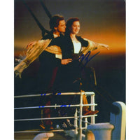 Signed colour image from 'Titanic' signed by Kate Winslett & Leonardo DiCaprio.
