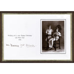 Prince Charles & Princess Diana Framed Christmas Card Signed by Both