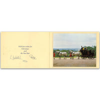 Christmas card signed by HM Queen Elizabeth II & HRH Prince Philip. 1974