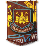 West Ham FC Football Pennant Multi Signed by Players 2017 /2018