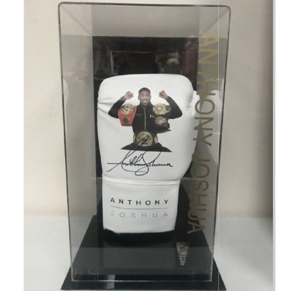 Anthony Joshua Personally Signed Boxing Glove in Special Display Case