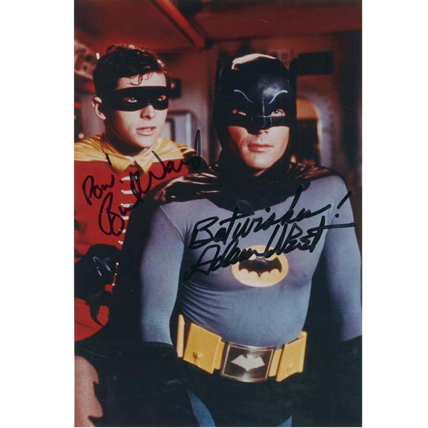 Batman TV Series Framed Classic Photo Signed by Adam West & Burt Ward