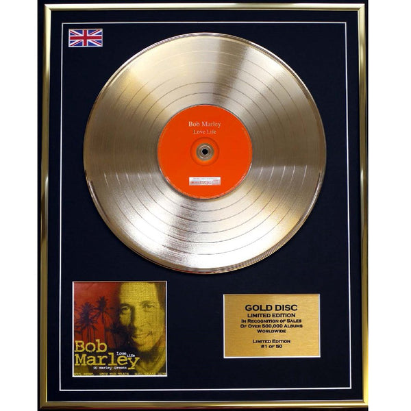 Bob Marley - Love Life Framed & Mounted Gold Disc Limited Edition of 50 only Worldwide