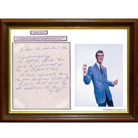 Buddy Holly Framed & Mounted Photo &  Hand Written Note