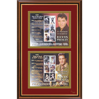 Elvis Presley-70th Anniversary Framed & Mounted Stamps Sheetlet