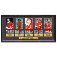 Five Manchester United players film cells. Framed