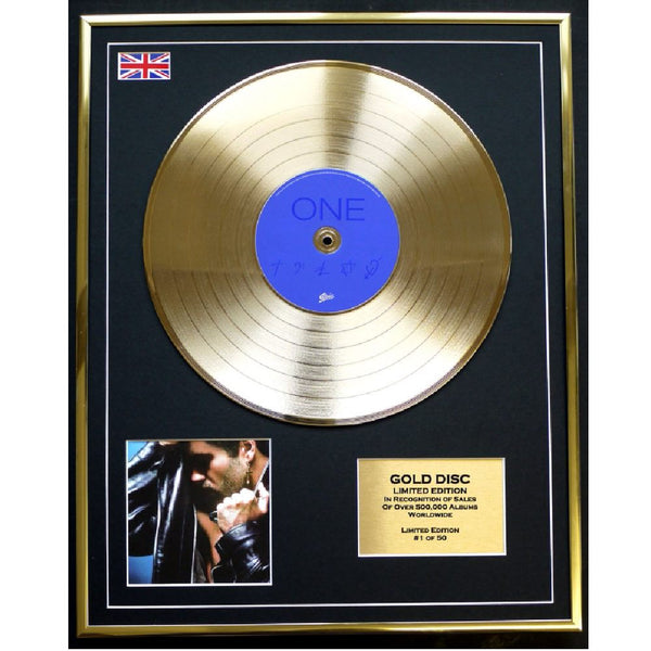 George Michael 'One' Framed & Mounted Gold Disc Ltd Edition of 50 Only