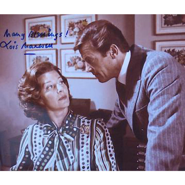 Lois Maxwell with 007 Mounted Photo Personally Signed