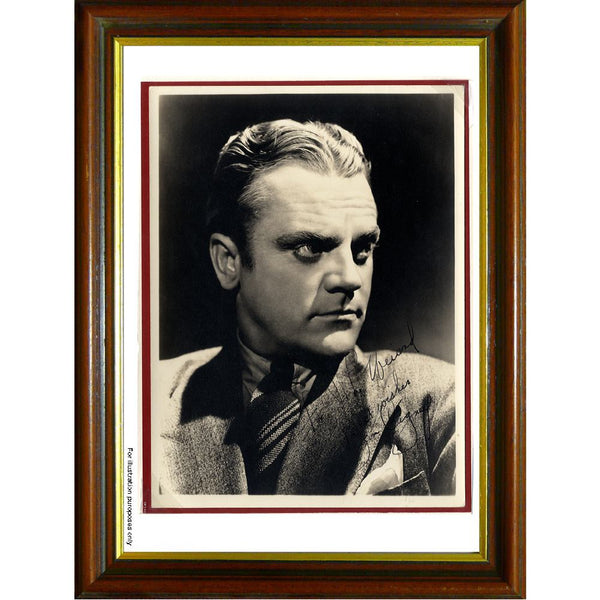 James Cagney Framed 7 Mounted Photo & Vintage Personally Signed Photo