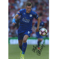 Jamie Vardy Mounted Personallly Signed Photo