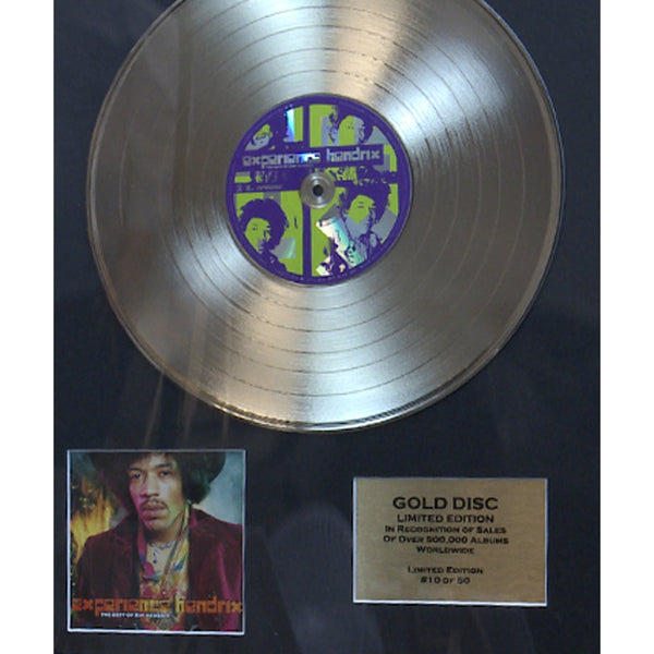 Jimi Hendrix-The Best Of Framed & Mounted Gold Disc Ltd Edition of 50 Only