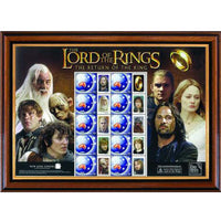 Lord of the Rings Stamp Sheet - Framed