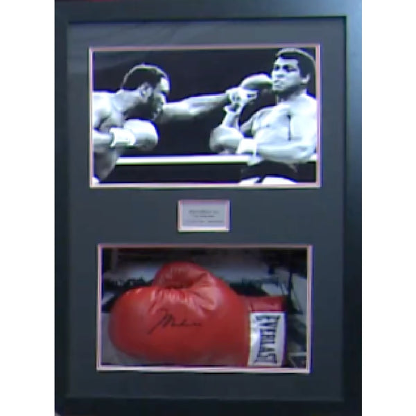 Muhammad Ali Framed & Mounted Personally Signed Boxing Glove & Photo Presentation