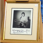 Paul McCartney  Signature Mounted with Black & White Photograph
