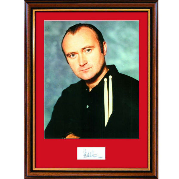 Phil Collins Framed & Mounted Colour Photo & Personal Signature