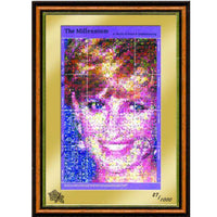 Princess Diana Framed Flowers Mosaic Stamps Sheetlet