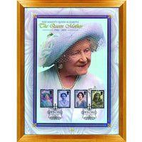 Queen Mother in Memoriam Framed Commemorative Stamp Sheetlet