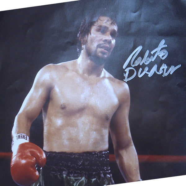 Roberto Duran Personally Signed Classic Photo