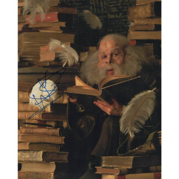 Warwick Davis as Professor Flitwick Mounted Colour Photo Personally Signed