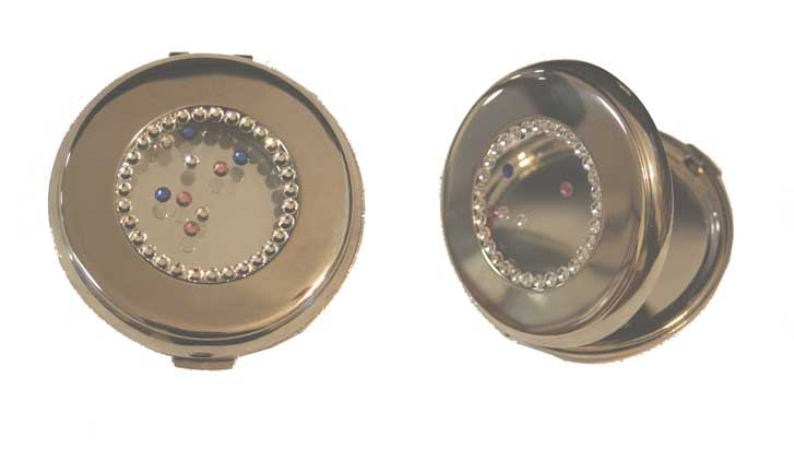 Round with Crystals Compact Mirror