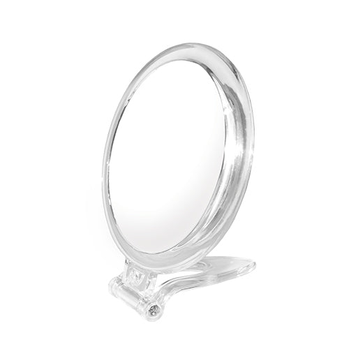 Round Acrylic Foldable Stand Handheld Mirror