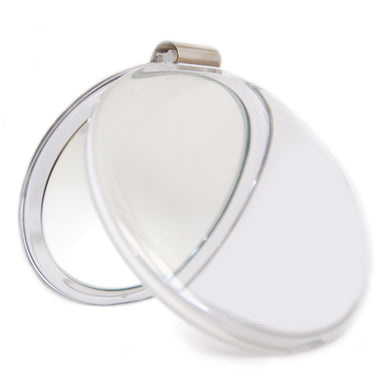 4-Inch Diameter Compact Mirror with Magnifier