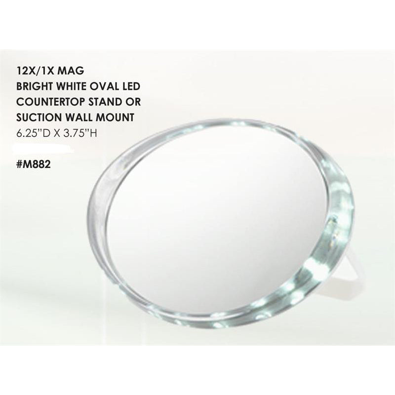 Dual-Function LED Travel Mirror