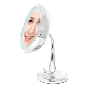 Classic Chrome Goose-neck Lighted Mirror