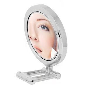 Lighted Chrome Stand Mirror