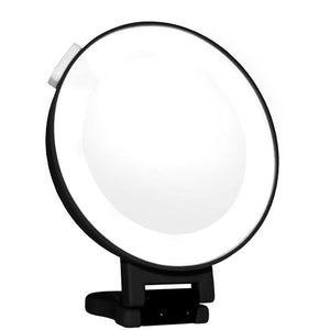 Lighted Soft-Touch Hangable Suction Mirror