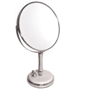 Classic Porcelain Dove Base Chrome Mirror, 7X/1X Magnification