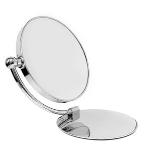 Classic Chrome Foldable Stand Mirror 7X/1X