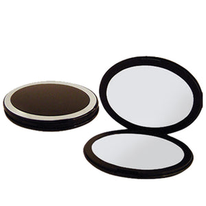 Oval Compact Mirror, 5X/1X Magnification