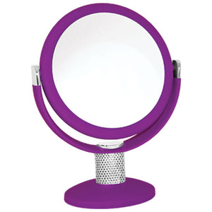Soft-Touch Crystal Neck Vanity Mirror
