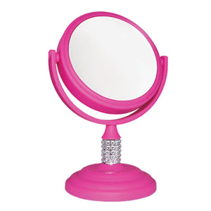 Mini Soft-Touch Crystal Neck Vanity Mirror