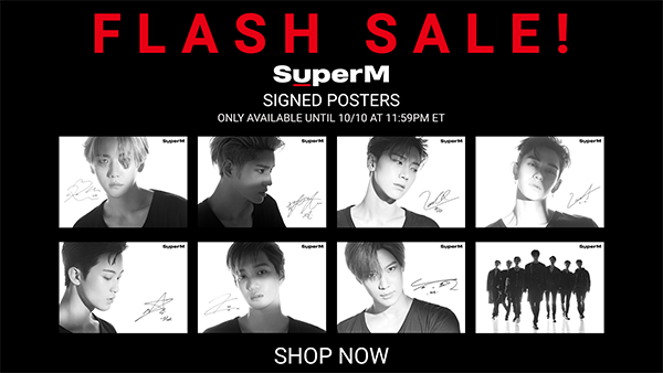 INTERNATIONAL SuperM Signed Posters