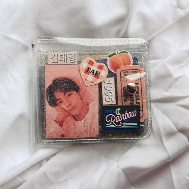 RAINBOW BRAND Jelly Wallet + FREE 30 photocards BONUS GIFT