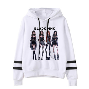 Blackpink Kill This Love Harajuku Hoodie Women Ullzang Jennie Rose Lisa Jisoo Cartoon Sweatshirt Autumn Winter Warm Hoofy Female