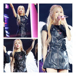 BLACKPINK ROSE Leather Dress Stage Outfit
