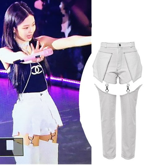 BLACKPINK Jennie Splice Straight Pants