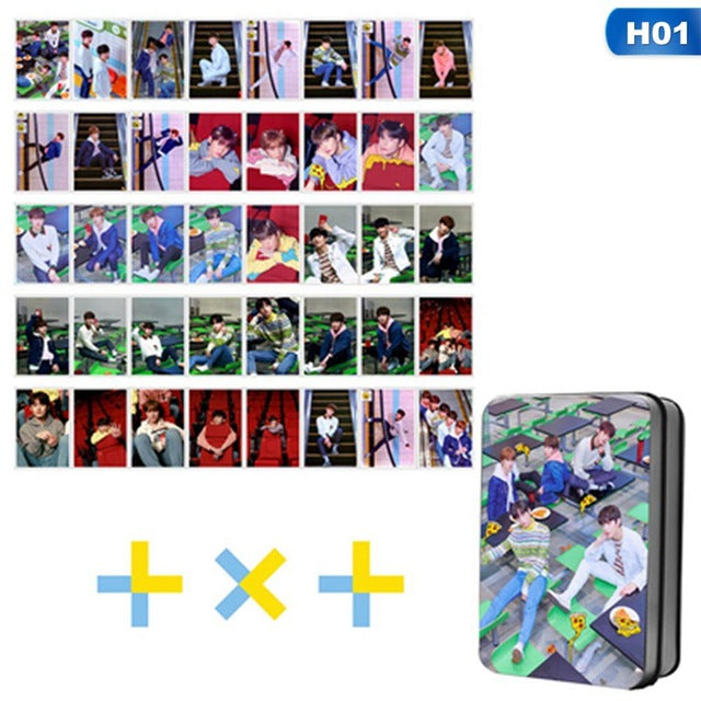 40Pcs/Set TXT The Dream Chapter STAR Album Photo Card Self Made TOMORROW X TOGETHER LOMO Card Photocard