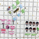 TWICE SEVENTEEN GOT7 TXT BLACKPINK Bubble Stickers Three-dimensional Stickers Love Letters  Cartoon Version Stickers