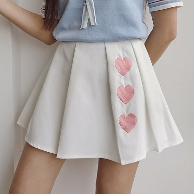 Pleated Sweetheart Skirt
