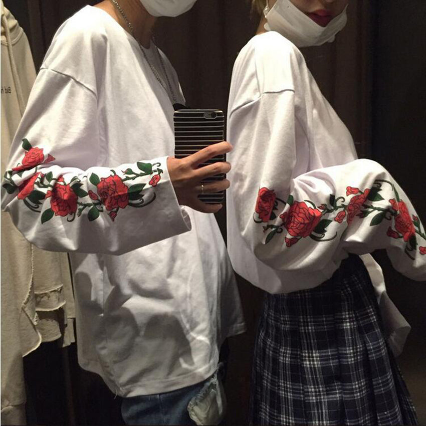 Flower Couple Oversized Top