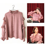 Red Velvet Yeri Frilled Blouse