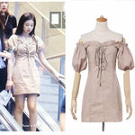 BLACKPINK Jennie Khaki Dress