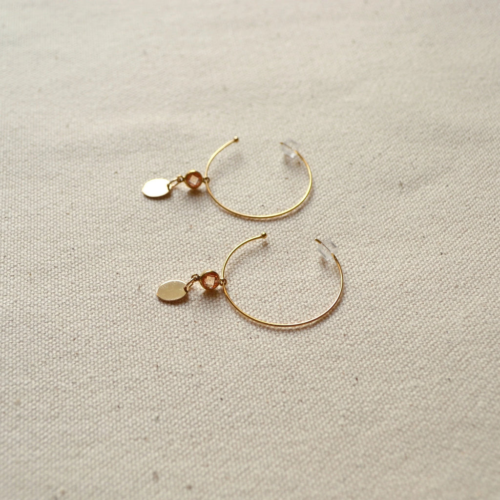 The Topaz Hoops