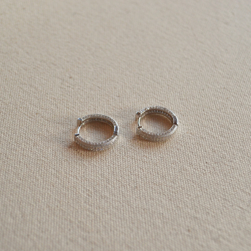 925 Silver Elegant Hoop Earrings
